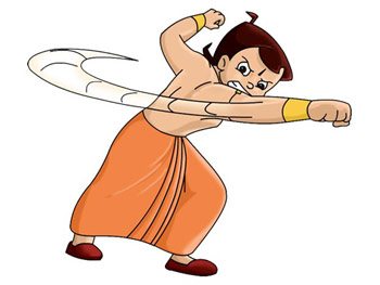 Bheem is waiting for his character friends who are on their