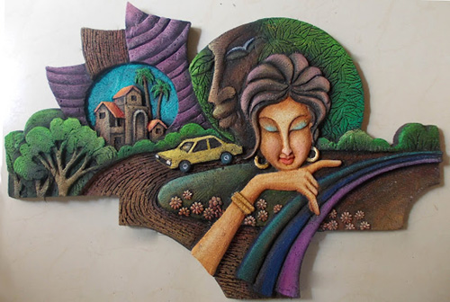 3d mural workshop by kalakruti creations for 3d mural art in india