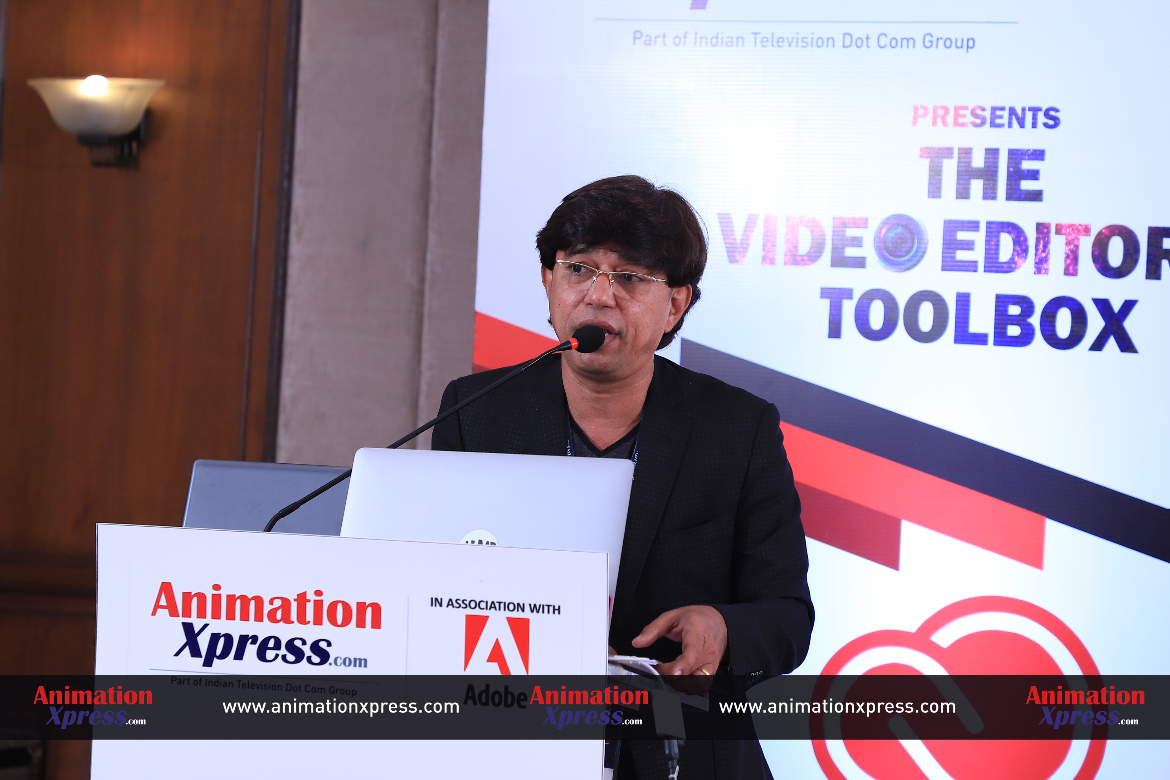 AnimationXpress founder, CEO, and editor-in-chief Ail Wanvari addressing the