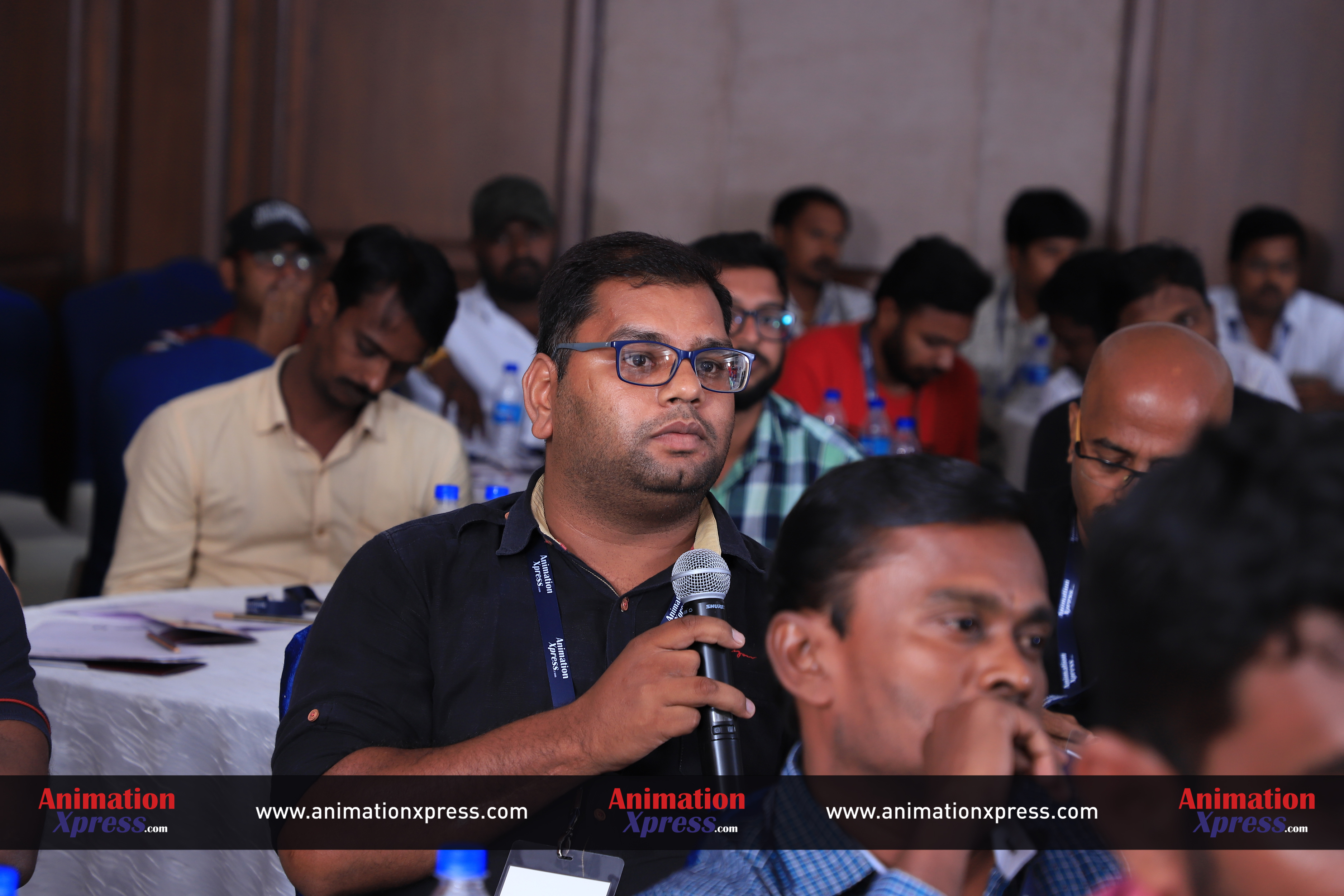 """An attendee asking a question at """"The Video Editors' toolbox"""""""