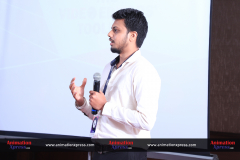 Adobe marketing specialist Sourabh Chenni addressing the attendees at the event