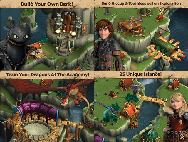 Dreamworks animation releases dragons rise of berk on ios its release coincides with the upcoming debut of how to train your dragon 2 which hits screens this summer ccuart Image collections