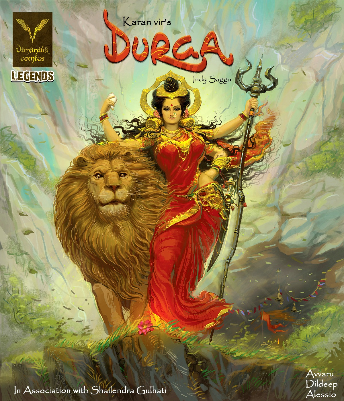 Durga Final Front Cover Vimanika Comics