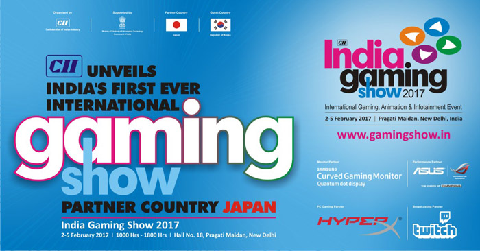 ... to host one of India's biggest gaming events: India Gaming Show 2017