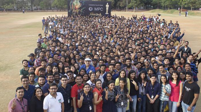 MPC Bengaluru celebrating Oscar victory