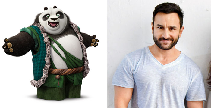 Kung Fu Panda 3 Li and Saif Ali Khan