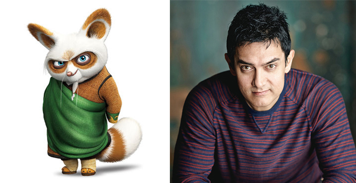 Kung Fu Panda 3 Master Shifu and Aamir Khan