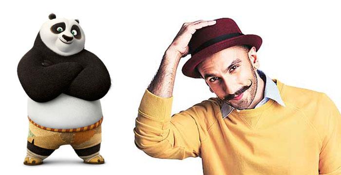 Kung Fu panda 3 Po and Ranveer Singh
