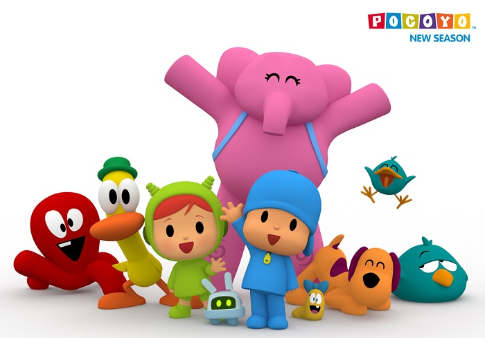 how to draw pocoyo and his friends