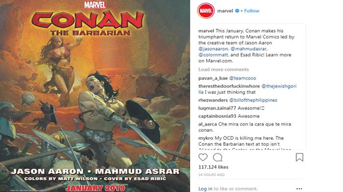 Creative team for the new Conan the Barbarian comic book series